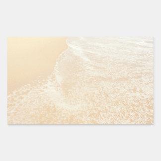 Pastel Beach Photography Sand and Sea foam Rectangular Stickers