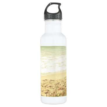 Beach Themed Pastel Beach Photography Stainless Steel Water Bottle