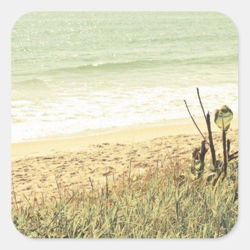 Pastel Beach Photography Sticker