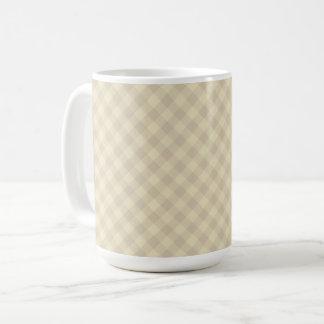 Pastel Beige Tartan 15 oz Mug