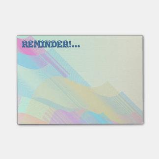 Pastel Bezier half Post-it® Notes