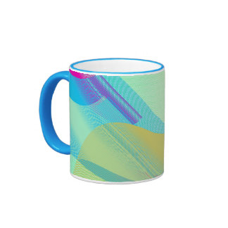 Pastel Bezier half Ringer Coffee Mug
