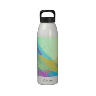 Pastel Bezier half Water Bottle