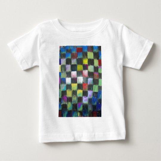 Pastel Black Checkered Pattern Baby T-Shirt