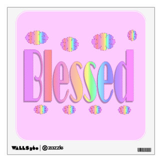 pastel Blessed Wall Sticker