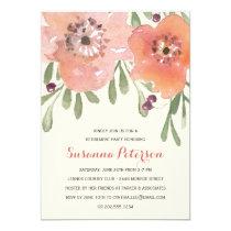 Pastel Blooms | Watercolor Floral Retirement Party Card