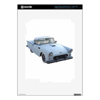 Pastel Blue 50's Sports Car Decal For iPad 3