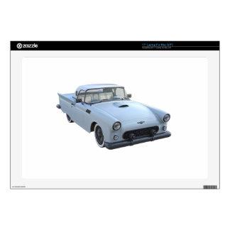 Pastel Blue 50's Sports Car Laptop Skins