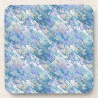 Pastel Blue Abstraction Beverage Coaster