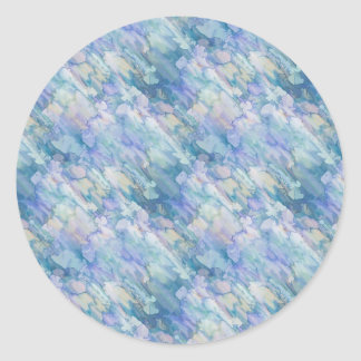 Pastel Blue Abstraction Classic Round Sticker