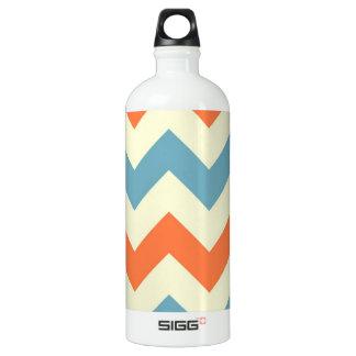 Pastel Blue and Orange Chevron Stripes SIGG Traveler 1.0L Water Bottle