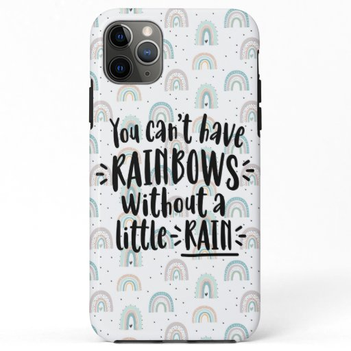 Pastel Blue and Pink Rainbow iPhone 11 Pro Max Case