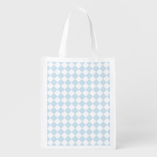 Pastel Blue and White Checkerboard Grocery Bags