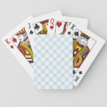 Pastel Blue and White Checkerboard Poker Cards