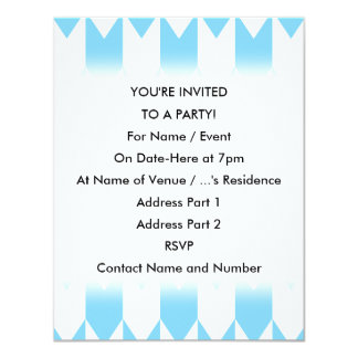 Pastel Blue and White Chevron Pattern. Card