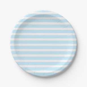 Pastel Blue and White Stripes Paper Plates  sc 1 st  Zazzle & Light Blue White Stripe Plates | Zazzle
