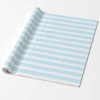 Pastel Blue and White Stripes Wrapping Paper