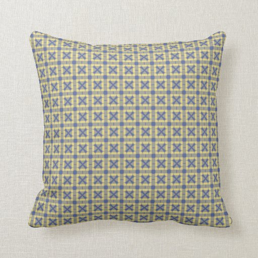 Pastel Blue and Yellow Throw Pillow Zazzle