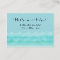 Pastel Blue At Sea Nautical Wedding Place Cards