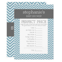 Pastel Blue Baby Shower Game - Perfect Price Invitation