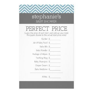 Pastel Blue Baby Shower Game - Perfect Price Stationery