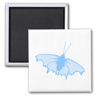 Pastel Blue Butterfly. 2 Inch Square Magnet