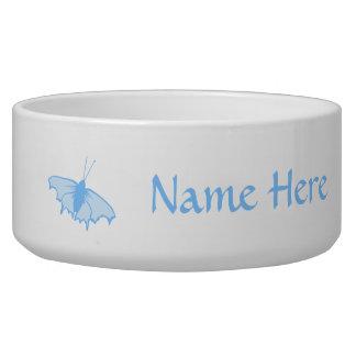 Pastel Blue Butterfly. Pet Bowls