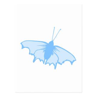 Pastel Blue Butterfly. Postcard