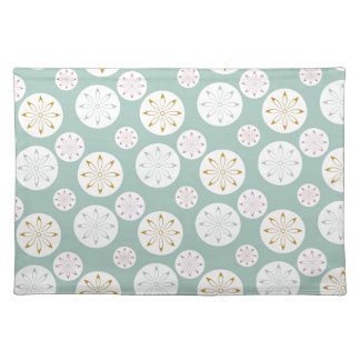 Pastel Blue Circle Star Pattern Gifts for Her Placemat