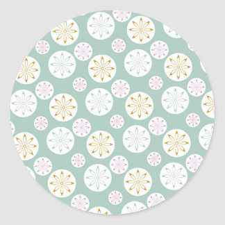 Pastel Blue Circle Star Pattern Gifts for Her Sticker