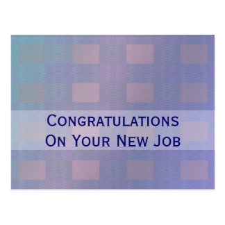 pastel blue congratulations job postcard