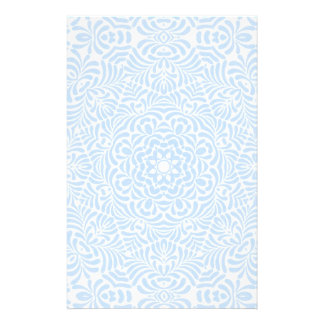 Pastel Blue Country Quilt Stationery
