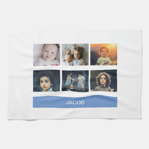 Pastel Blue Custom Photo â Personalized Hand Towel