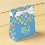 Pastel Blue Cute Owl Baby Boy Shower Theme Favor Box