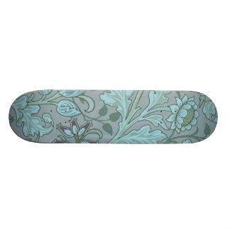 Pastel Blue Decorative Flowers Custom Skate Board