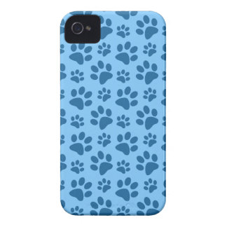 Pastel blue dog paw print pattern iPhone 4 Case-Mate case