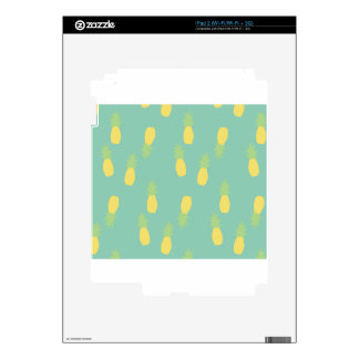 Pastel Blue Exotic Back Plan Love  Pineapple Decal For The iPad 2