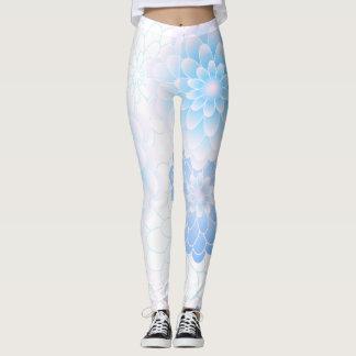 Pastel blue flowers, original leggings