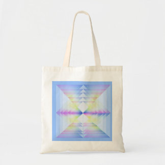 Pastel Blue Geometrical Pattern Budget Tote Bag