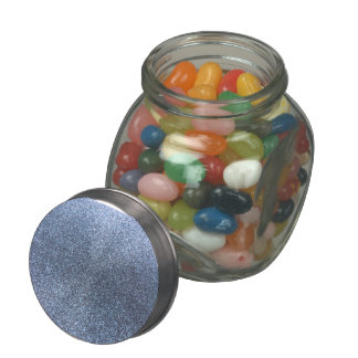 Pastel blue glitter glass jars