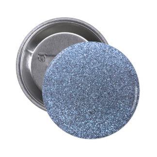 Pastel blue glitter pinback button