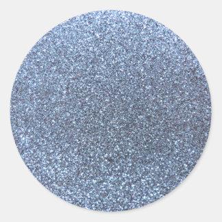 Pastel blue glitter stickers