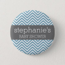 Pastel Blue & Gray Baby Shower Suite Button