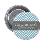 Pastel Blue & Gray Baby Shower Suite 2 Inch Round Button