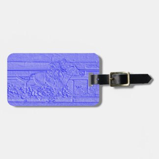 Pastel Blue Horse Racing Thoroughbred Racehorse Bag Tag