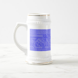 Pastel Blue Horse Racing Thoroughbred Racehorse Beer Stein