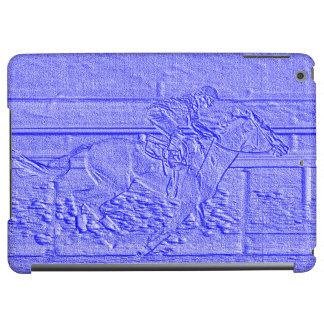 Pastel Blue Horse Racing Thoroughbred Racehorse Case For iPad Air