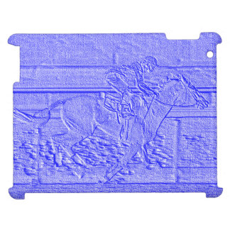 Pastel Blue Horse Racing Thoroughbred Racehorse Case For The iPad 2 3 4