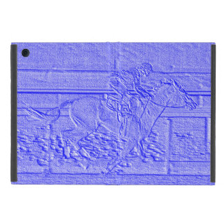 Pastel Blue Horse Racing Thoroughbred Racehorse Cases For iPad Mini