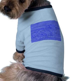 Pastel Blue Horse Racing Thoroughbred Racehorse Doggie Tee Shirt